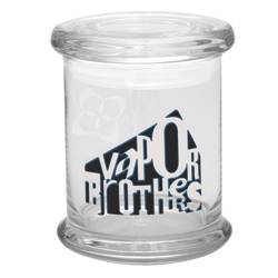 420 Science Large Pop Top Glass Jar - Vaporbrothers Weatherman Logo vaporbrothers, herb jar